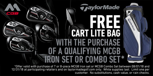 FREE CART LITE BAG with the purchaseof a qualifying MCGB