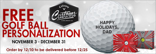 Callaway 2017 Free Personalization Chrome Soft Golf Balls