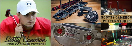scotty cameron 2017 futura & select newport3 putters featuring Jordan Spieth