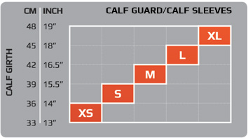 Unisex Calf Sleeves Size Chart