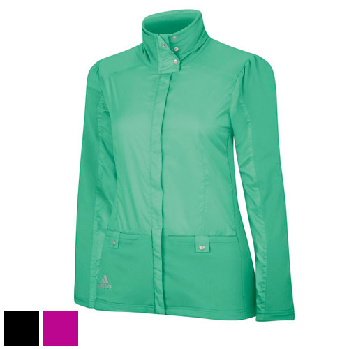 Adidas Ladies ClimaProof Woven Knit Wind Novelty Jackets