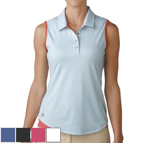 アディダスゴルフ Ladies Essentials 3 Stripes Sleeveless Polo Shirts