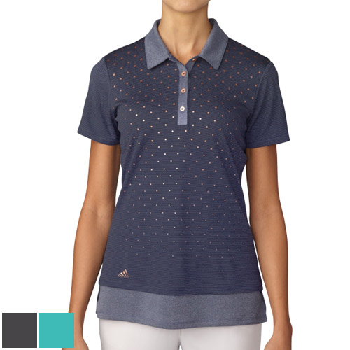 アディダスゴルフ Ladies Advance Diamond Print SS Polo