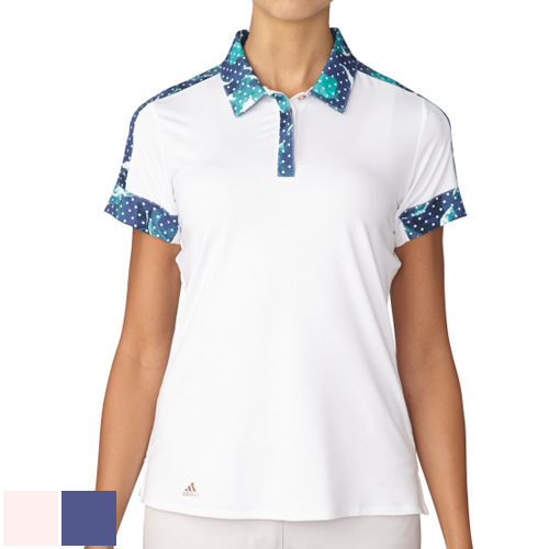 アディダスゴルフ Ladies Sport Print SS Polo