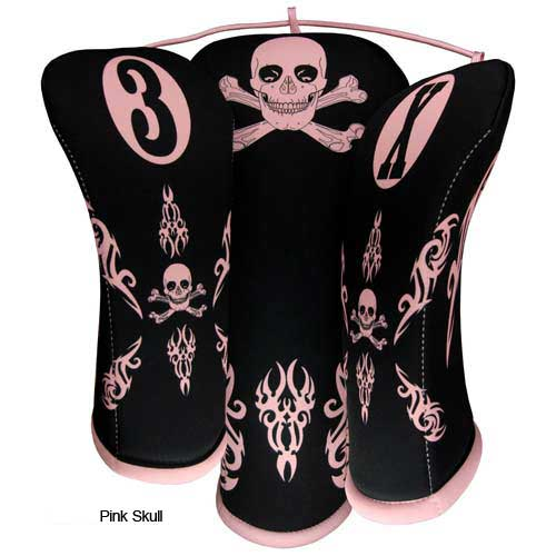 BeeJo Ladies Pink Skull Headcover