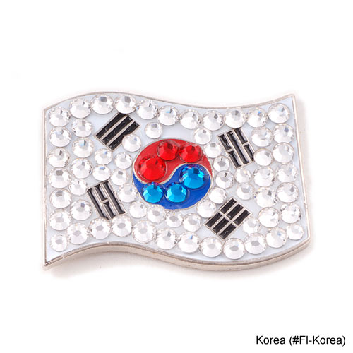 Bonjoc Ladies Korea Flag Ball Markers