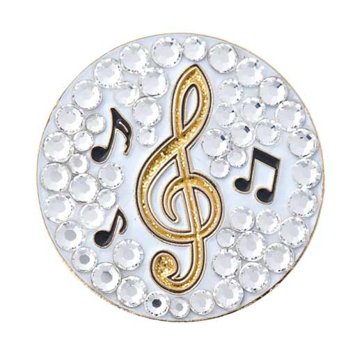 Bonjoc Ladies Music Note Ball Markers