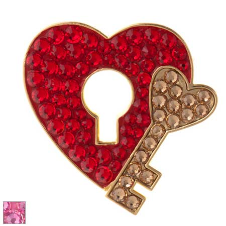 Bonjoc Ladies Key to My Heart Ball Markers by Seema Sparkle
