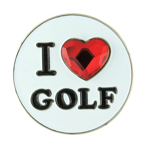 Bonjoc Ladies I Heart Golf Ball Markers