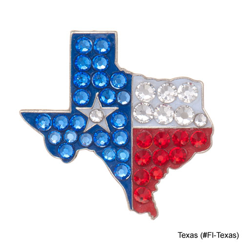 Bonjoc Ladies Texas Flag Ball Markers
