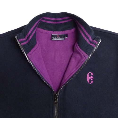Conte of Florence(Italia Firenze)Cotton Zip Sweaters (#06AABH-05
