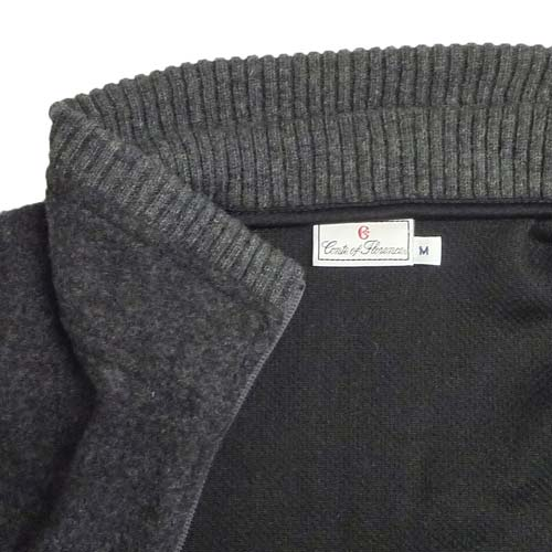 Conte of Florence(Italia Firenze) Fleece Wool Zip Sweaters (#06A