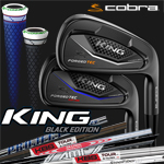 Cobra KING Forged Tec Black Custom Irons (カスタムアイアン)