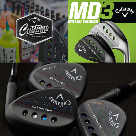 Callaway MD3 Custom Wedges with Paint Fill