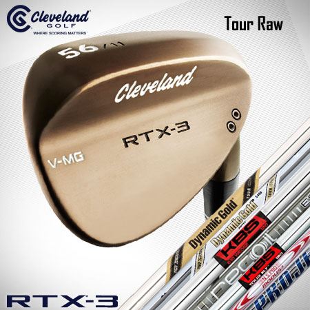 Cleveland RTX-3 Tour Raw Custom Wedges (カスタム ウェッジ)