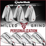 TaylorMade Milled Grind Personalized Chrome Wedge (カスタムウェッジ)