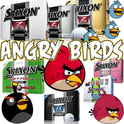 Angry Bird Custom Logo'ed - Srixon Golf Balls (Set of 12)
