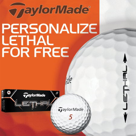 TaylorMade Lethal FREE Personalization カスタムゴルフボール