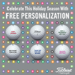 Titleist 2017 Holiday Free Personalization Golf Balls