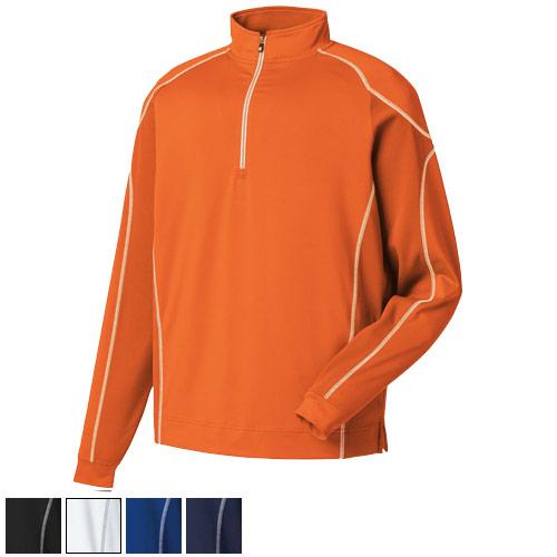 フットジョイ Mixed Texture Sport Half-Zip Pullover
