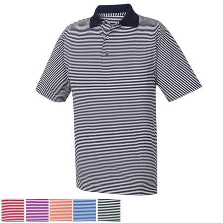 FootJoy ProDry Performance Lisle Feeder Stripe Knit Collar