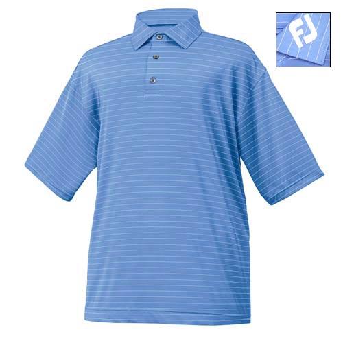 FootJoy CAPE COD Stripe Stretch Lisle Shirts w/ FJ logo