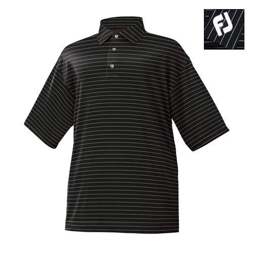 FootJoy SAVANNAH Stripe Stretch Lisle Shirts w/ FJ logo