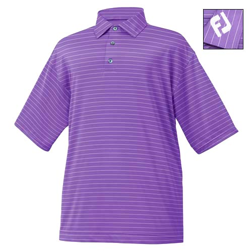 FootJoy NAPA VALLEY Stripe Stretch Lisle Shirts w/ FJ logo