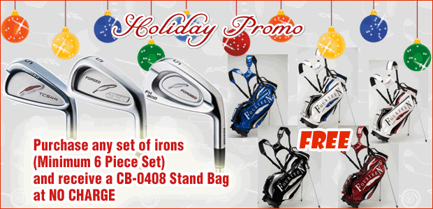 Holiday free stand bag with purchase of iron set