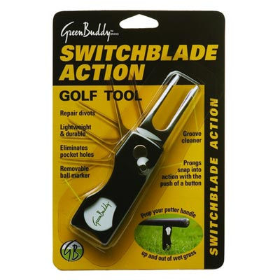 Green Buddy Switchblade Divot Tools - Blister Pack
