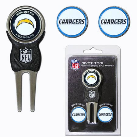 NFL Divot Tool w/ Magnetic 3 Ball Markers