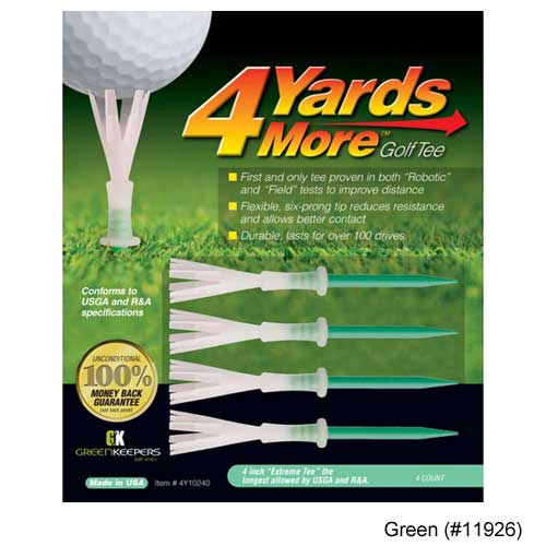 Greenskeeper 4 Yard More Golf Tees (Pack of 4)
