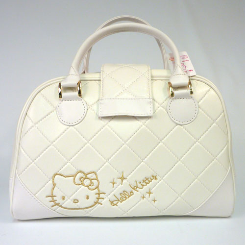 ハローキティー Ladies White Tote Bags