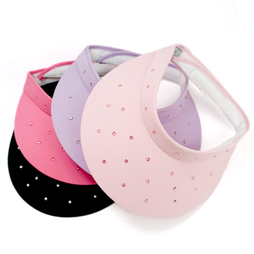 ハイスピリット Ladies Clip-on Swarovski Rhinestone Visor