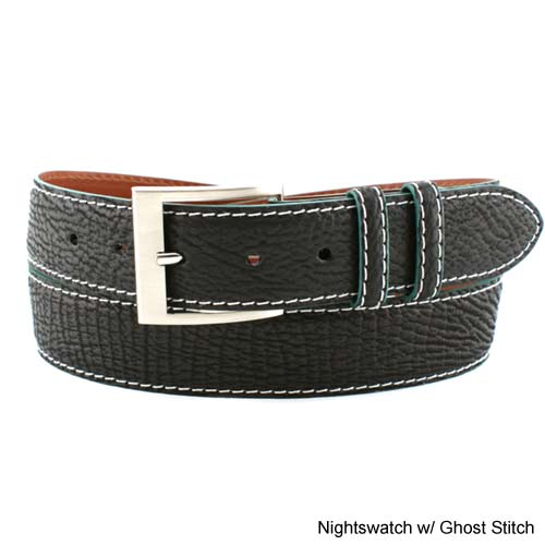 Jacob Hill Leather Genuine Shark 1 1/2 Leather Belts