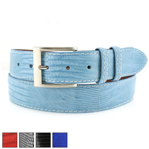 Jacob Hill Leather Lizard 1 1/2 Leather Belts