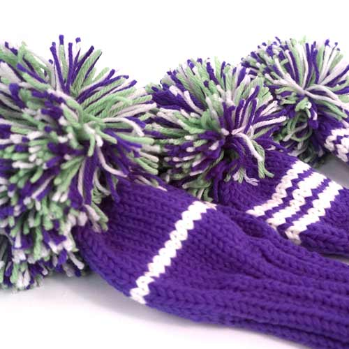 Jan Craig Purple White Meadow Stripe Headcover Sets