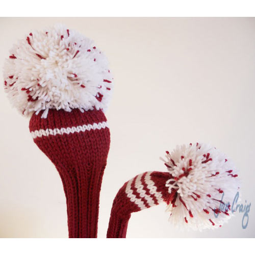 Jan Craig Red White Stripe Headcover Sets