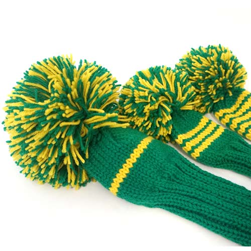 Jan Craig Green Yellow Stripe Headcover Sets