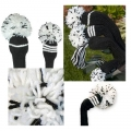 Jan Craig Black White Stripe Headcover Sets