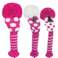 Just 4 Golf Ladies Pink and White Dot Headcovers