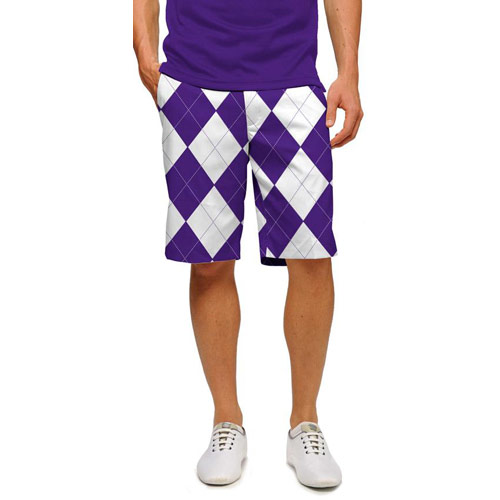 LoudMouth Purple & White Shorts