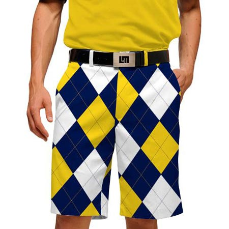 LoudMouth Blue & Gold Mega Shorts