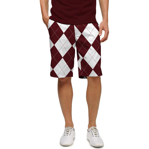 LoudMouth Maroon & White Shorts