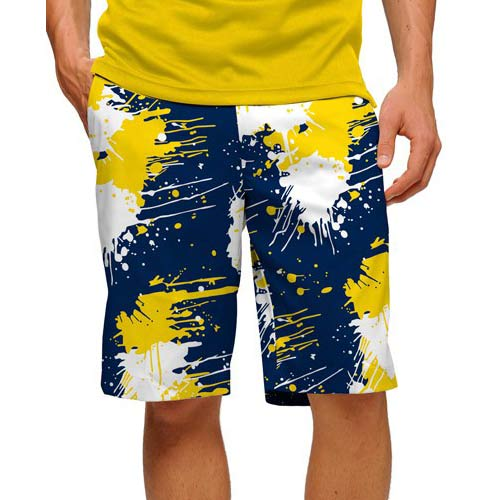 LoudMouth Blue & Gold Paint Shorts