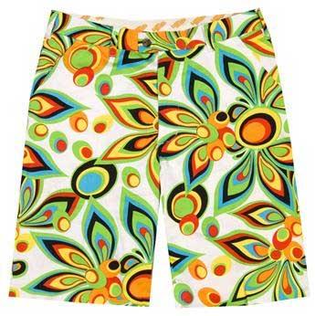LoudMouth Shagadelic White Shorts