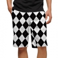 LoudMouth Black & White Shorts