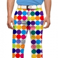LoudMouth Woodworth Disco Ball White Pants