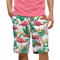 LoudMouth Flamingo Bay White StretchTech Short