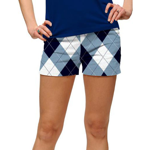 LoudMouth Ladies Blue & White Mini Shorts (#SS)